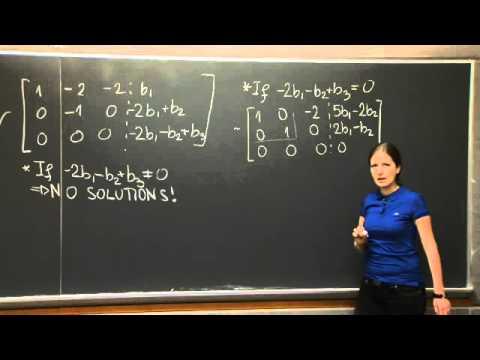 Solving Ax=b | MIT 18.06SC Linear Algebra, Fall 2011
