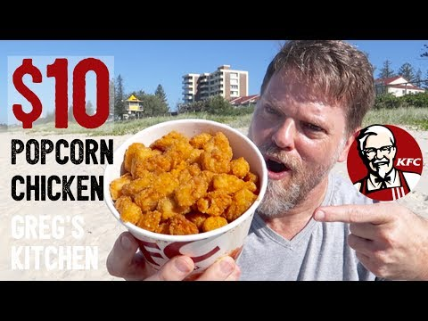 KFC $10 POPCORN CHICKEN FOOD REVIEW - Greg's Kitchen