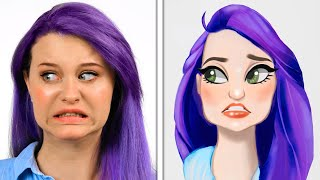 CARTOON PORTRAIT CHALLENGE || How to Draw People In Cartoon Style