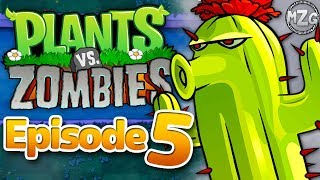 Plants vs. Zombies Gameplay Walkthrough - Episode 5 - World 4! Night Pool! (PC)