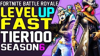 Fortnite How to LEVEL UP FAST Season 6, RANK UP FAST XP, UNLOCK DIRE and CALAMITY Max Level