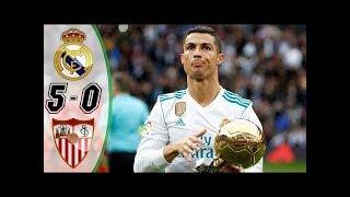REAL MADRID vs SÉVILLE :Liga Santander 2017 Buts et Résumé du match