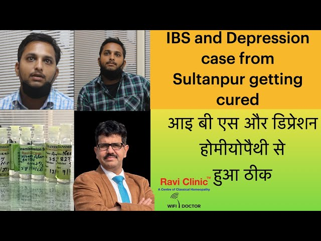 IBS and Depression case from Sultanpur getting cured.
