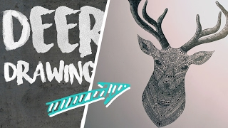 DEER ZENTANGLE MANDALA DRAWING | TIMELAPSE | DAVID MIN ART
