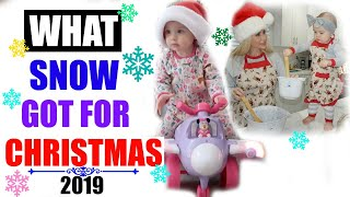 WHAT SNOW GOT FOR CHRISTMAS 2019