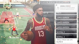 All James Harden Dribble Moves Challenge 😱...So Many ANKLE BREAKERS! 6'4 PlayShot Build nba 2k19!