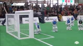 GO 2015 SPL Finals: Nao-Team HTWK vs. B-Human 2nd half