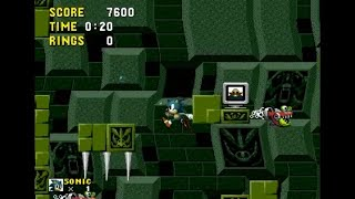 Sonic Eggman Monitor (Genesis) - Extreme Mode on Labyrinth Zone Walkthrough