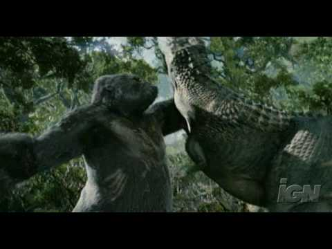 King Kong 2005 Kong Vs V Rex Clip 1 Youtube