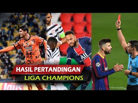 Hasil Liga Champion: PSG Vs MU, Kiev Vs Juventus, Barcelona Vs Ferencvaros, Lazio Vs Dortmund Dll