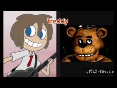 Comparación de los personajes de fnaf y fnaf hs