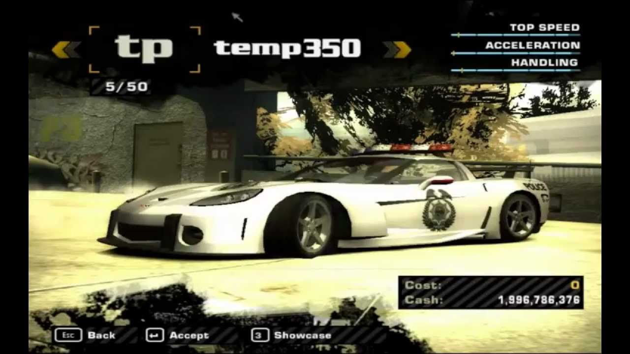 NFS Most Wanted HD Full Car List Cheat Cars