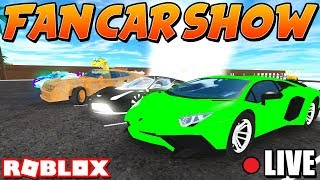 🔴 VEHICLE SIMULATOR FAN CAR SHOW [ROBUX GIFTCARD!] #TRIXSTERARMY!