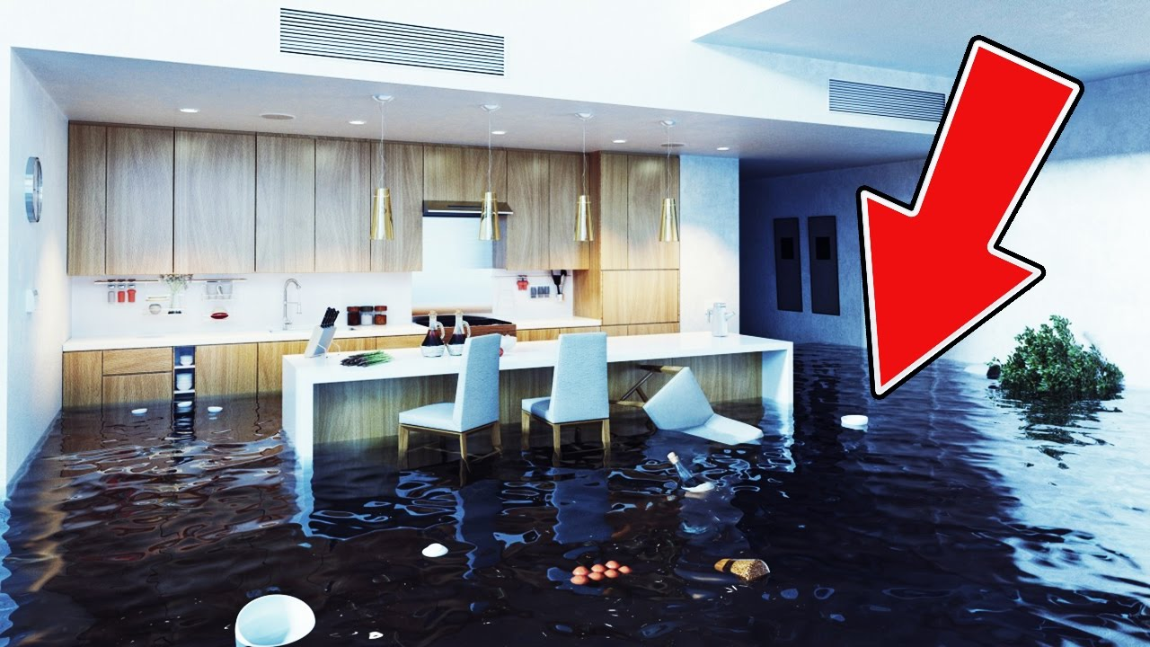 HUGE HOUSE FLOOD! (Burst Water Pipe) - YouTube