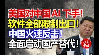 美国对中国AI下手!软件全部限制出口!中国火速反击!全面启动国产替代!