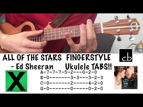ALL OF THE STARS (Ed Sheeran) FINGERSTYLE Ukulele TUTORIAL