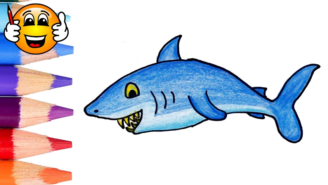 Coloring Pages For Kids Shark