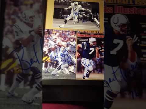 Bert Jones Colts QB 3/3 TTM Return success/recap.