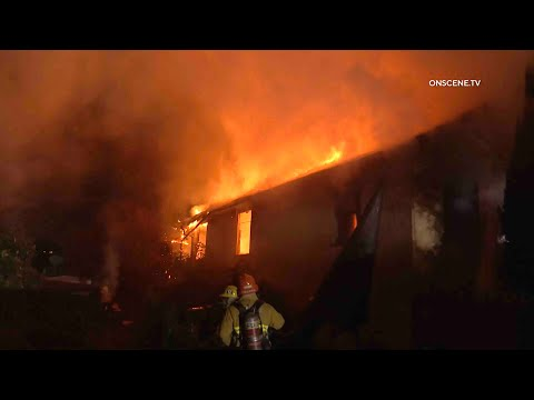 Raging Fire Destroys Home | Los Angeles