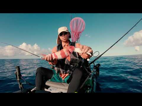 Finally Sat On A Giant Bait Ball Of Opelu! + Keeper Weke Ula Oama [Kayak Fishing Hawaii]
