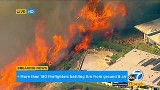 Pacific Palisades brush fire threatens homes I ABC7