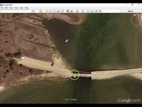 Chappaquiddick Island- Ted Kennedy Incident From Google Earth.