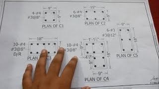 Column Construction Drawing plan reading | How to read structural drawing in Urdu/Hindi