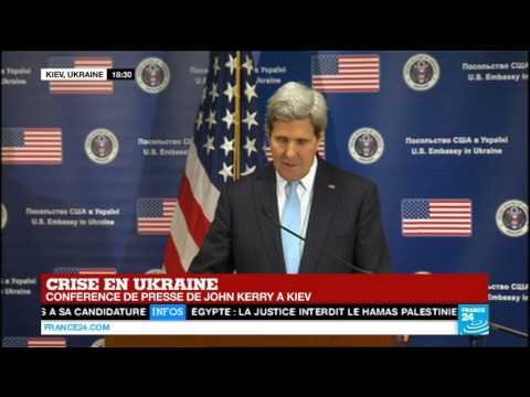 Conférence de presse de John Kerry à Kiev