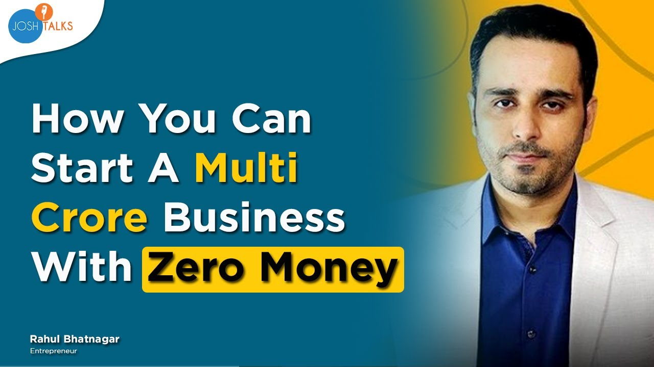 BUSINESS Ideas You Can Start & Scale with NO MONEY | Rahul Bhatnagar