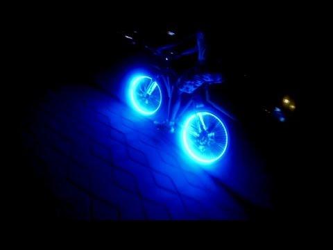 Как установить светодиодную ленту на колеса велосипеда