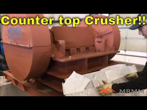 MBMMLLC.com: Slab Crusher for Scrap Granite & Quartz Countertops - Reuse & Recycle Remnant Pieces