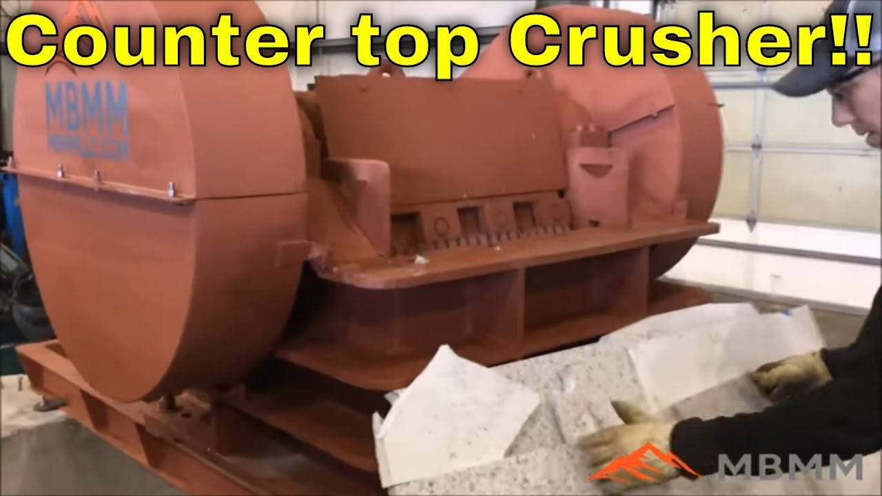 Mbmmllc Slab Crusher For S Granite Quartz Countertops Reuse Recycle Remnant Pieces
