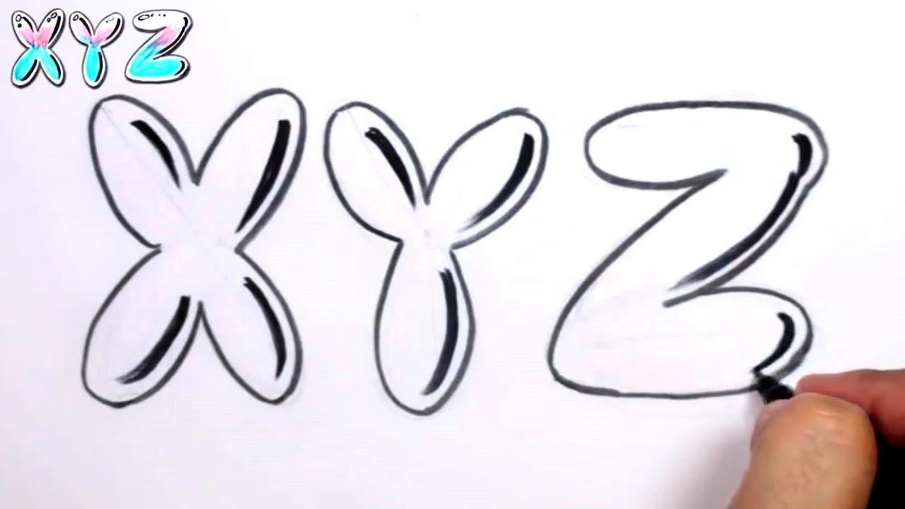 Graffiti letters alphabet bubble letters alphabet x y z - Graffiti alphabet bubble ...