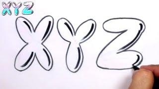 Graffiti Letters Alphabet Bubble Letters Alphabet X Y Z - MAT