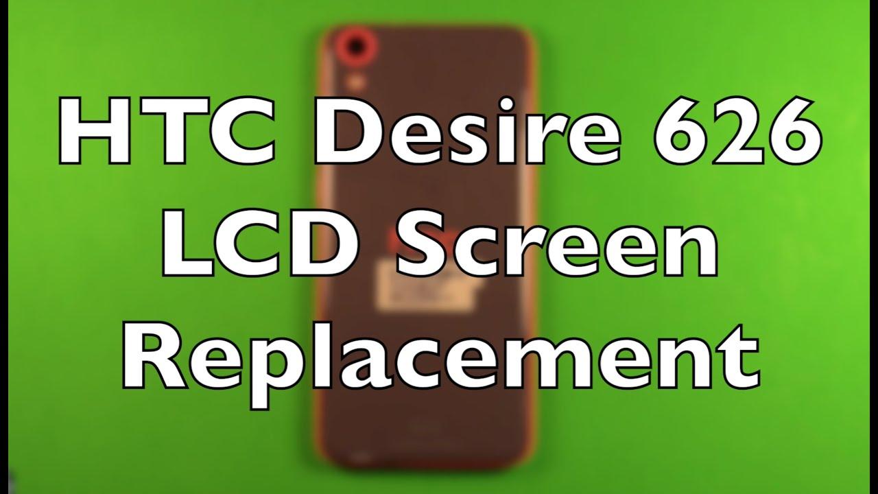 Замена только сенсора на HTC Desire 600 - YouTube