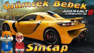 Örümcek Bebek Asphalt 8 Oynuyor Yeni Arabalar ve Sincap ile Örümcek Bebeğin Oyun Videoları