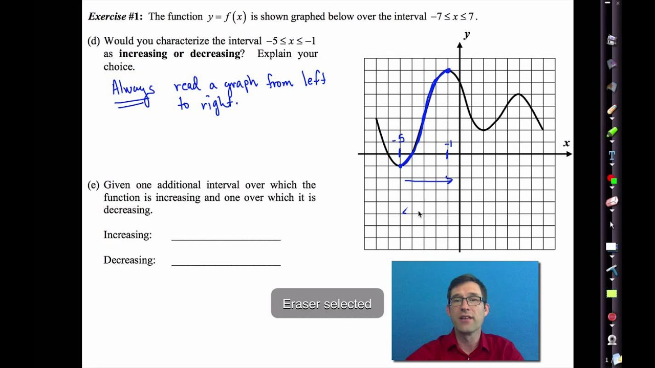 Common Core Algebra I Unit #3 Lesson #4 Graphical Features of Functions