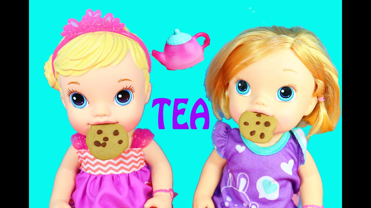 Toy Review Baby Alive Color Change Baby Doll Tea Party Dolls - YouTube