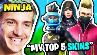 NINJA SHOWS HIS TOP 5 SKINS | Fortnite Daily Funny Moments Ep.151