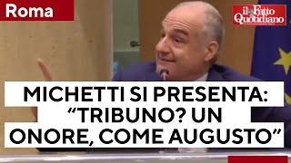 """Roma, Michetti si presenta da candidato del centrodestra: """"Tribuno? Un onore, come Augusto"""""""