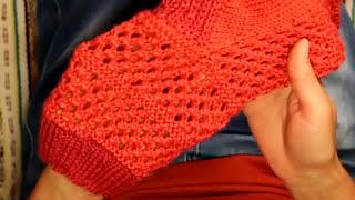 Вязание носков с узором