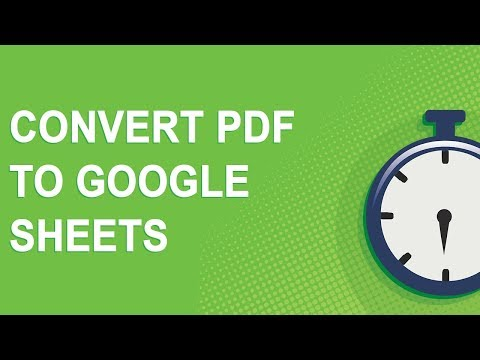 Convert PDF to Google Sheets (NO YOUTUBE ADS!)