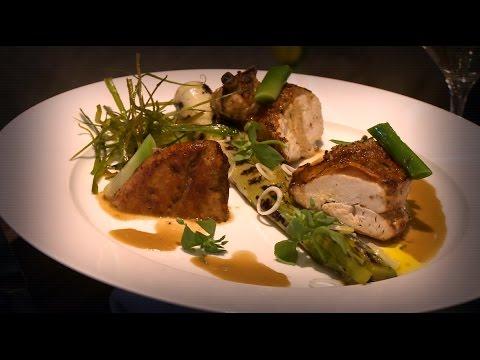 recette-:-poulet-rôti-aux-poireaux-grillés---météo-à-la-carte