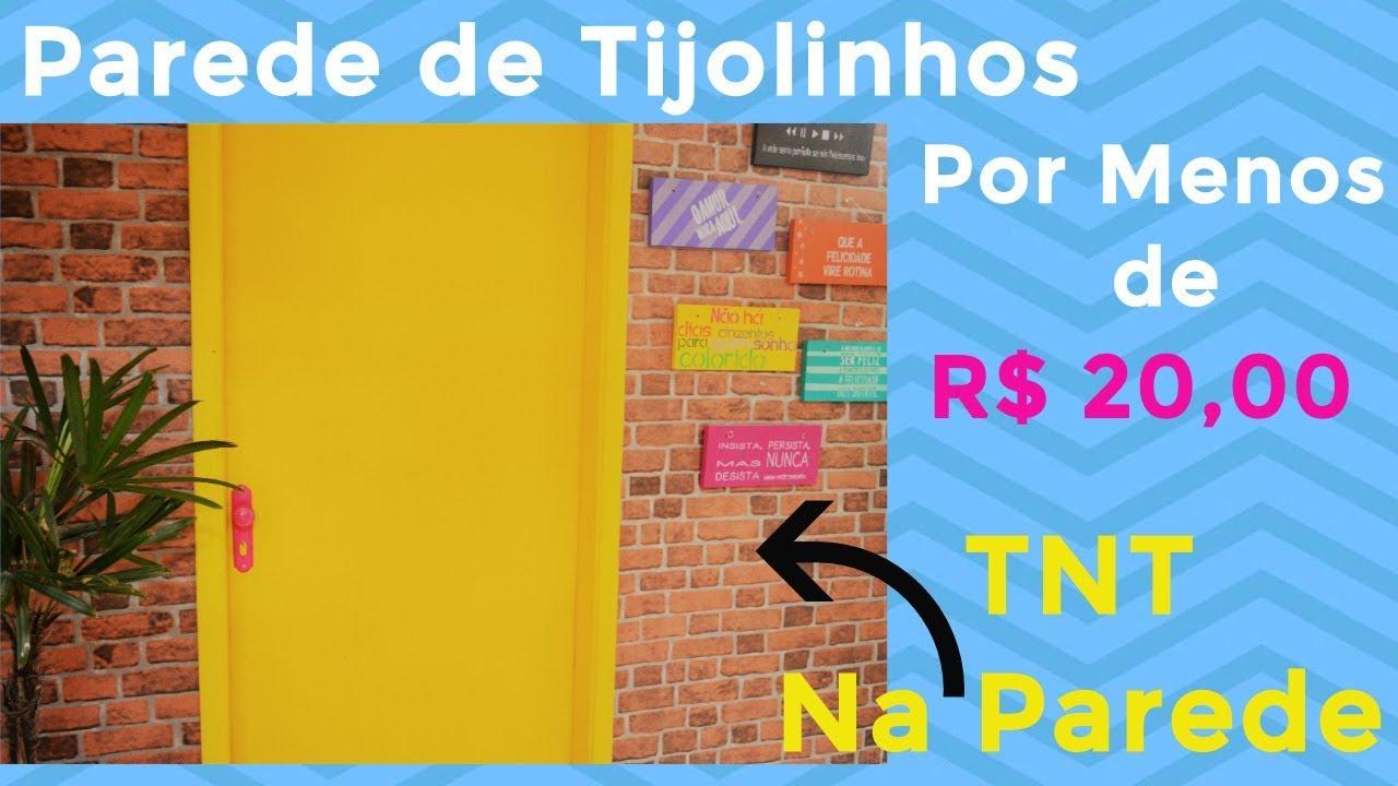 TNT na Parede  Parede de Tijolinhos  YouTube
