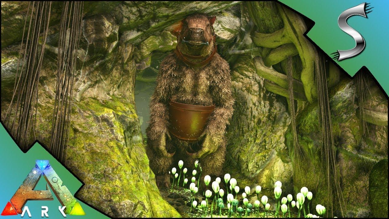 Megatherium Caving Fail Swamp Cave Run Ark Survival Evolved