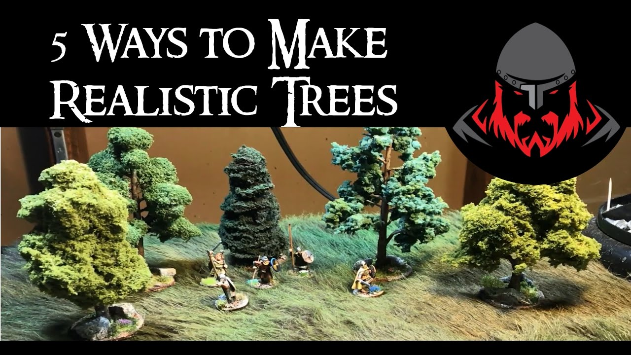 5 Ways To Make Realistic Wargaming Trees Youtube