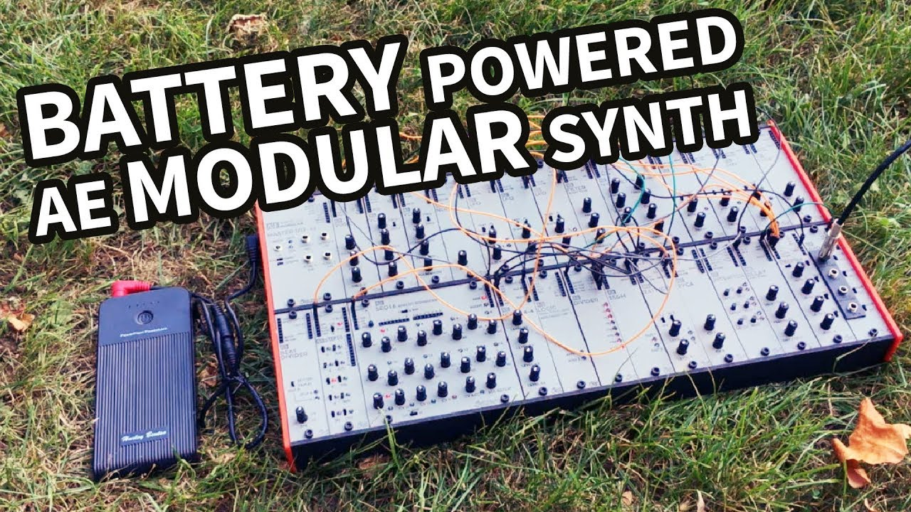 Battery Powered AE Modular     cheap and portable modular synth !!! #TTNM