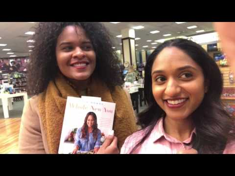 Tia Mowry NYC Barnes and Noble Book signing for 1st cook book #wholenewyou