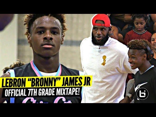 b49e6cc6ae3 Bronny James Jr. Releases First Highlight Tape