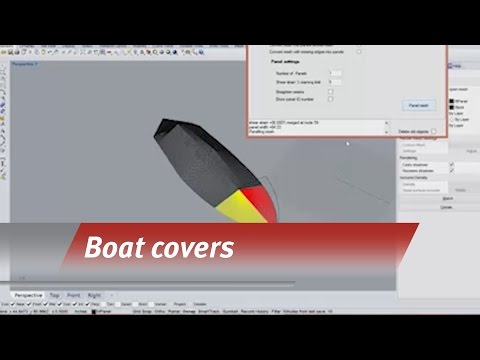 Templating a boat cover